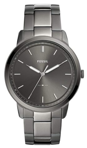 A minimalist slim Fossil piece with grey tone