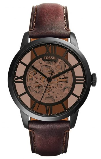 One of the best skeleton watch with brown-shaded transparent dial