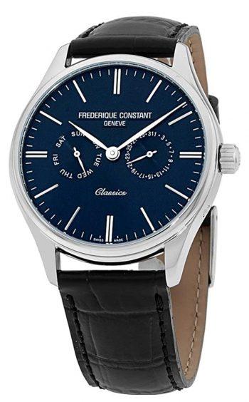 Elegant dress watch with dark blue dial