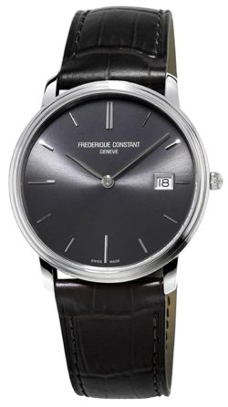 Elegant dress watch with an all-black dial