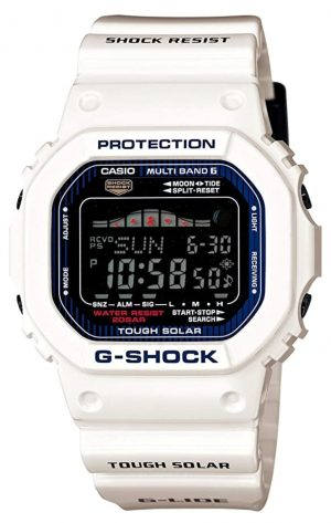 White G-Shock among the best surf watches for tide tracking