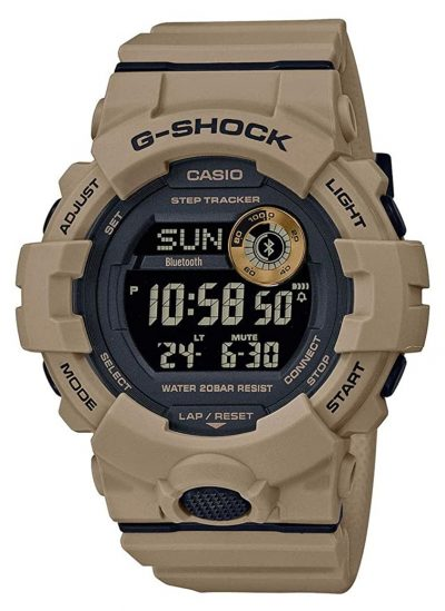 Rugged military watch with digital face