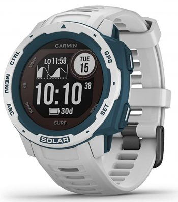 Solar surf watch with various features