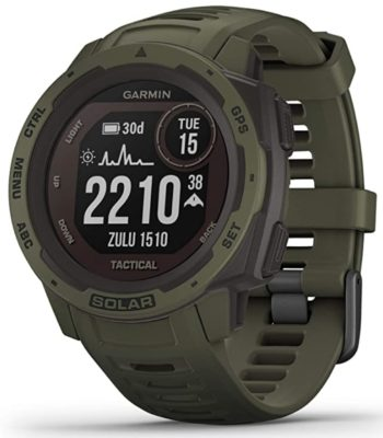 Garmin watch with solar power and GPS function