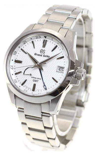 Luxurious Spring Drive watch with white dial
