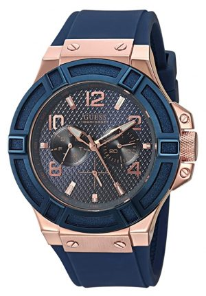 Rose-gold toned Guess timepiece for fashionistas