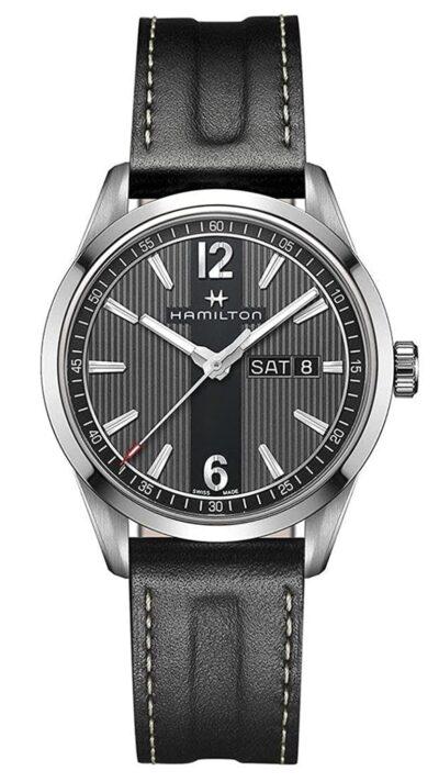 vertical stripe running through the watch dial