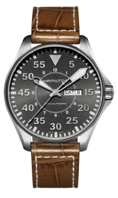 Hamilton pilot timepiece with large dial