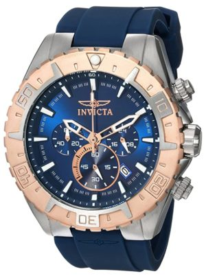 Blue-faced fashion watch from Invicta