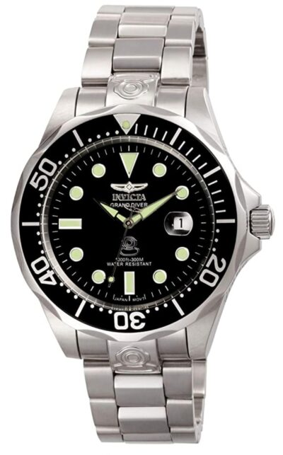 Classic black and silver dive watch