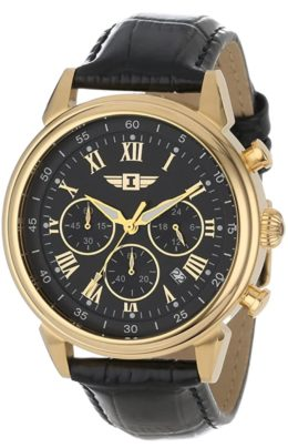 Dress watch with gold case and Roman numerals