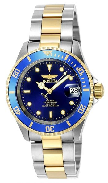 Blue-dialled Invicta Pro Diver watch