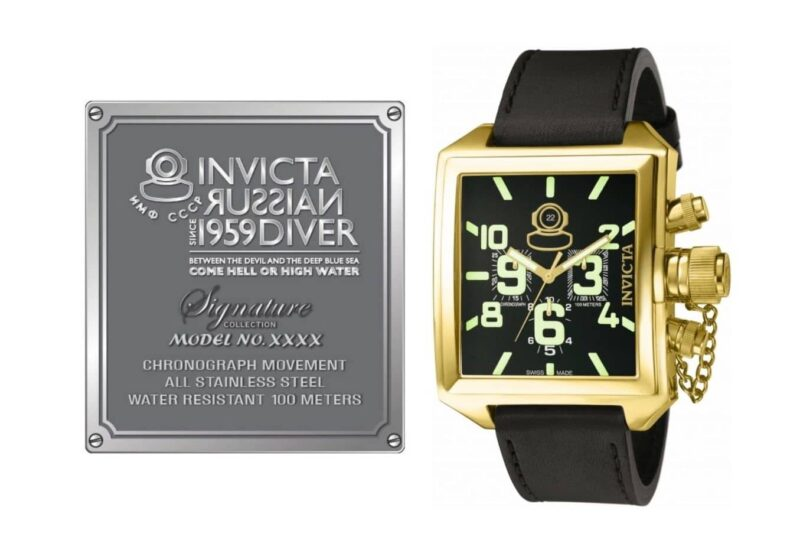 Quadrangle Invicta Soviet watch