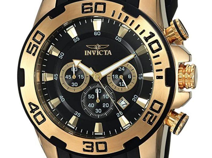 Invicta gold and black dive piece
