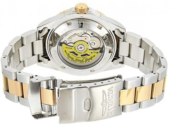 Invicta diving watch with see-through caseback