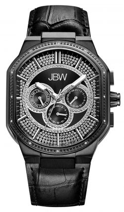 affordable diamond watch with black appeal