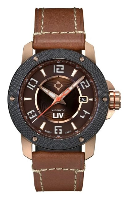 rose gold LIV watch with multi-layer dial