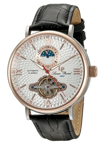 Colorful moon phase timepiece with classic dial