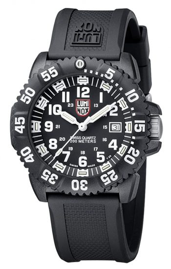 Tactical watch with white numbering