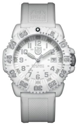 Luminox diver with an all-white appearance and great water resistance