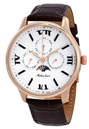 Swiss moon phase watch from Mathey-Tissot