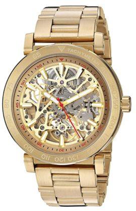 MK gold-toned skeletal watch