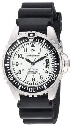 Momentum white face divers watch