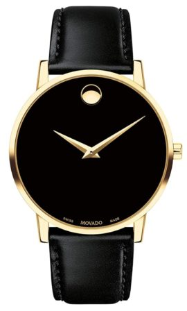 Gold-toned minimalist Movado watch