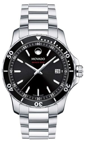 Dive-inspired metal Movado timepiece