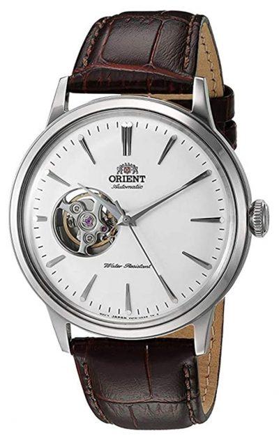 fancy open-heart design on classic watch face