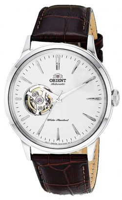 Orient Bambino dress watch with open cut