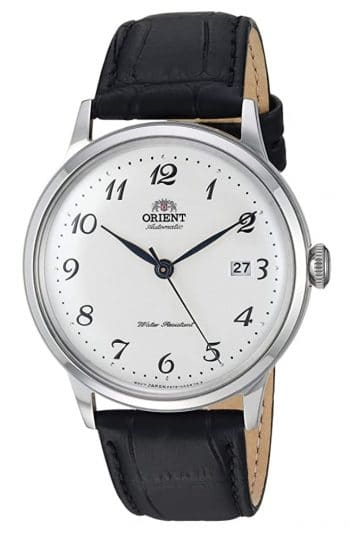Elegant Orient dress watch with analog dial