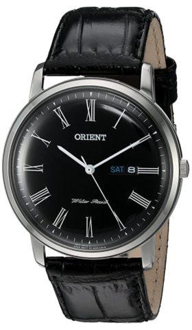 Vintage black Orient watch with Roman numerals