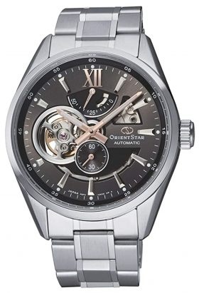 Premium-class Orient Star watch with power indicator