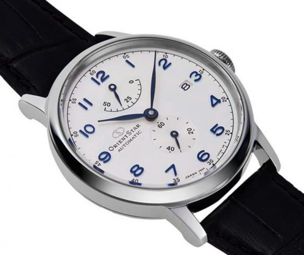 Orient Star watch with classy apparel