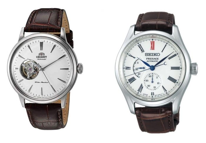Seiko and Orient mechanical caliber watches