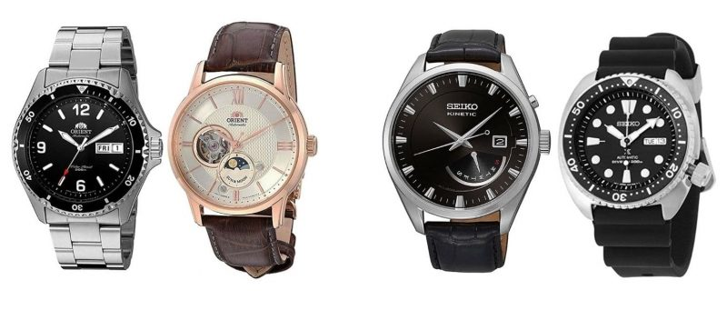 Orient vs Seiko dress and dive watches
