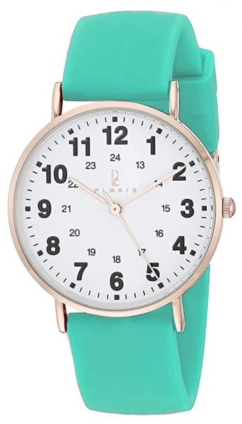 Simple watch with medical green band