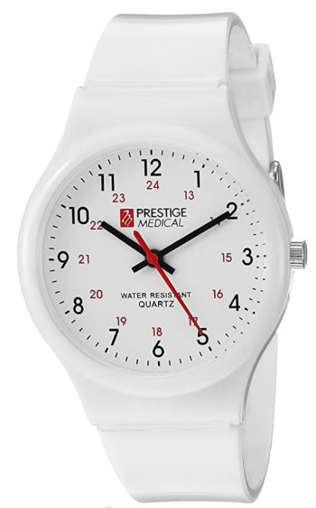 Medical wristwatch with red second hand