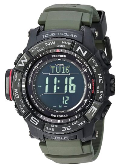 Fully digital solar-powered timepiece for outdoor activities