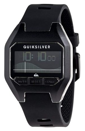 Simple plastic surfer's watch with an all-black appeal