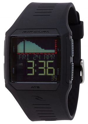 Tide watch with rectangle case and digital screen