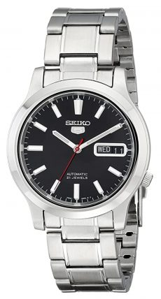 Seiko 5 Automatic watch with black dial