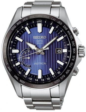 Seiko Astron watch with GPS timekeeping and solar power