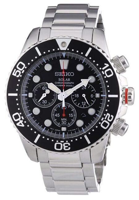 Classy Seiko metal solar watch