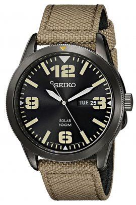 Solar-powered Seiko field watch