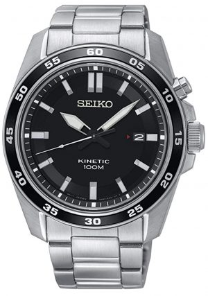 Seiko kinetic watch with an all-metal appeal