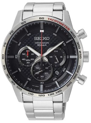 An all-metal oversized big dial watch with stopwatch subdials