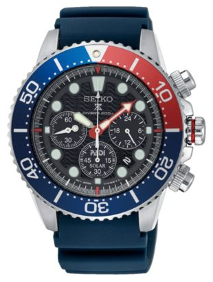 Seiko's dive watch with chronograph subdials and extra pushers