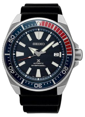 Seiko Samurai diver with blue and red bezel